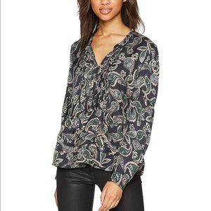 William Rast NWT Pin Tuck Atwood Blouse
